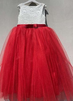 Пишна фатінова святкова сукня для дівчинки на урочисту подію