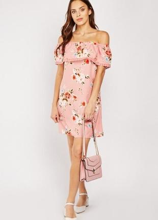 Primark платье с открытыми плечами