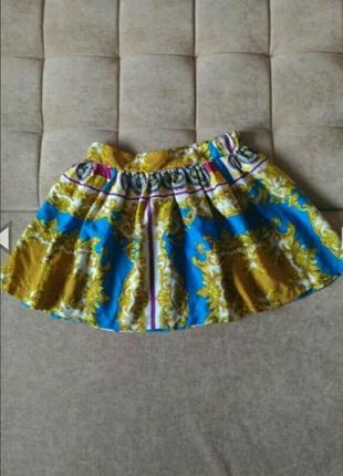 Яркая, лёгкая юбка atmosphere с орнаментом в стиле версаче размер 12