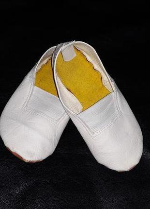 Чешки тапочки балетки кожаные