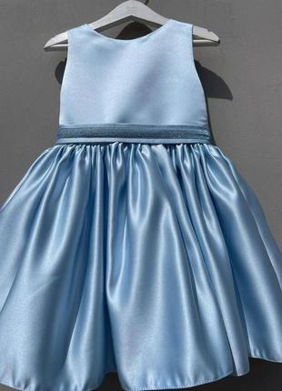 Атласна коротка святкова сукня для дівчинки 4-6 років в наявності більше 20 кольорів