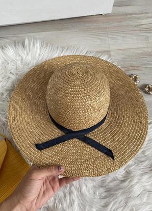 Соломенная шляпа шляпка летняя