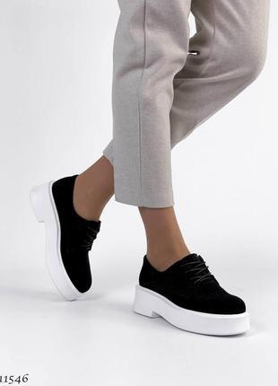 Замшевые туфли, туфли со шнурком