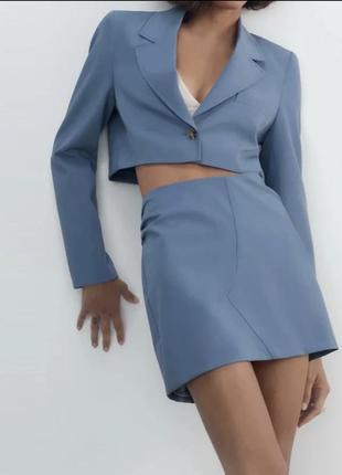 Укороченый стильный блейзер пиджак жакет