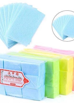 Серветки безворсові тканинні для нігтів 4х5 см, 600 шт