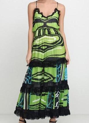 Sassofono платье сарафан шифон  юбка макси с оборкой размер универсал
