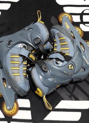 Раздвижные ролики роликовые коньки фирма bronx inline sport - shock