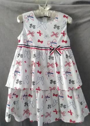 Бавовняне платтячко для дівчинки, рр 120-160