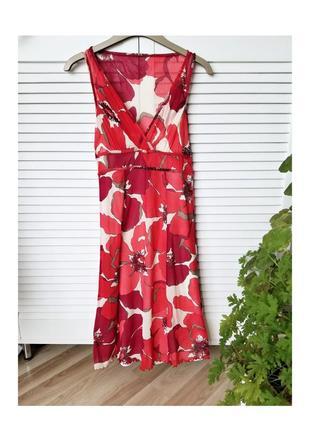 Милое цветное миди платье 2в1 летние платье трапецевидное