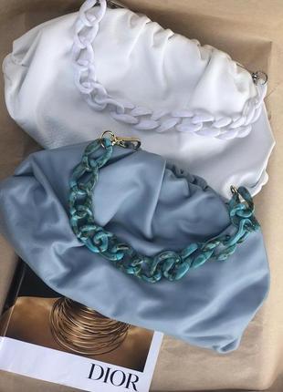 Итальянские женские кожаные сумки облако пельмень сумка шкіряна
