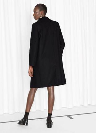 Классическое шерстяное пальто h&m