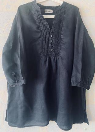 Блузка лён большой размер