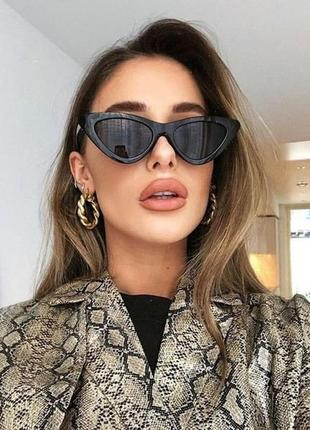4-9 элегантные солнцезащитные очки лисички елегантні сонцезахисні окуляри лисички