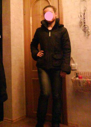 Куртка (xs) зима- осень пуховик с капюшоном