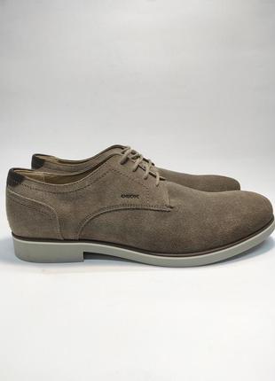 Туфлі замшеві geox коричневі нові класичні ділові офісні