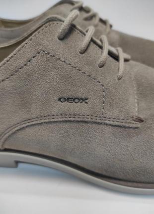 Туфлі замшеві geox коричневі нові класичні ділові офісні4 фото