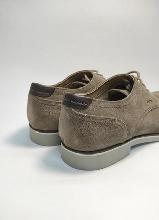 Туфлі замшеві geox коричневі нові класичні ділові офісні3 фото