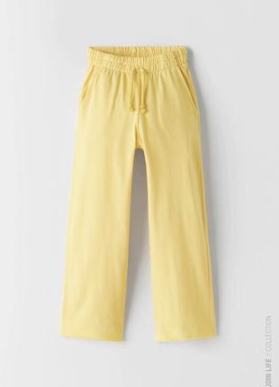 Широкі літні котонові брюки
