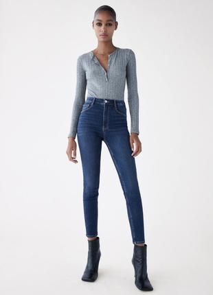 Zara sculpt z1975 denim джинсы скини с высокой посадкой