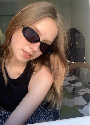 Черные очки4 фото