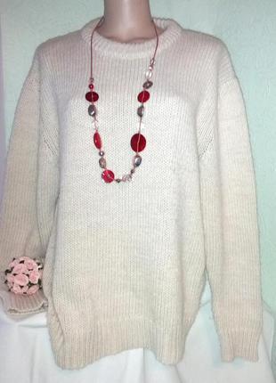 Шикарнейший брендовый свитер из толстой пряжи на высокую амазонку,56-60разм,zara,турция.