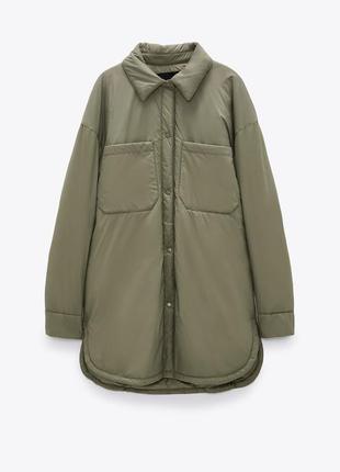 Куртка рубашечного кроя zara