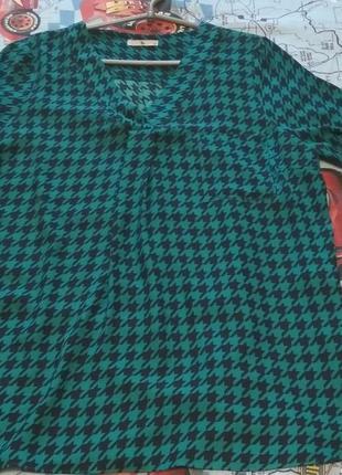 Рубашка в гусиную лапку 16 размер