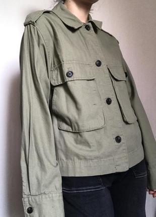 Джинсовка рубашка хаки