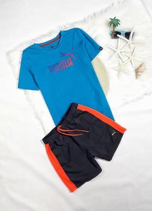 Летний набор футболка + шорты от puma, состояние идеальное