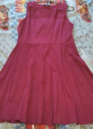 Платье трикотаж кружево