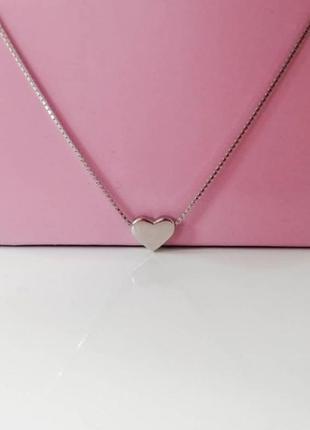 Новая серебряная подаеска кулончик серебро 925 сердечко цепочка чокер