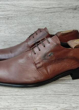 Muggo 42-42.5p туфли мужские кожаные турция