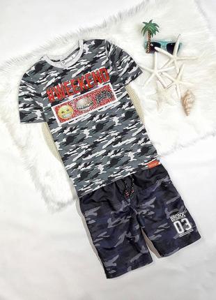 Летний набор футболка + шорты, на 8-10 лет