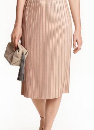 Плиссированная юбка от h&m