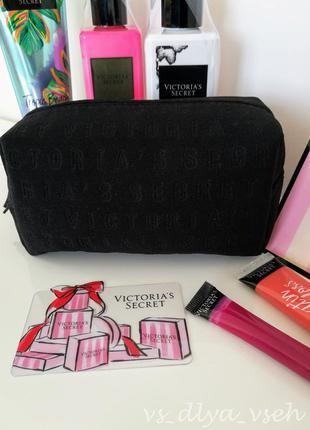 Неопреновая компактная косметичка beauty bag victoria's secret. оригинал. сша