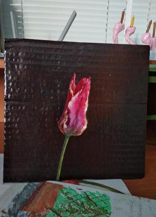 Оригінал картина квітка квіти тюльпан, реалістична, акрил