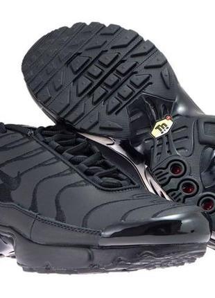 Фирменные кожаные кроссовки nike air max plus tn1 оригинал