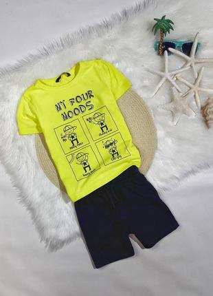 Летний набор футболка + шорты на 3-4 года, состояние идеальное