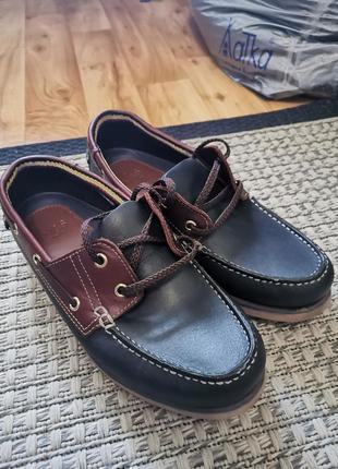 Мужские туфли, мокасины,топсайдеры marks and spencer, m&s, (размер  40,5 - 41) оригинал