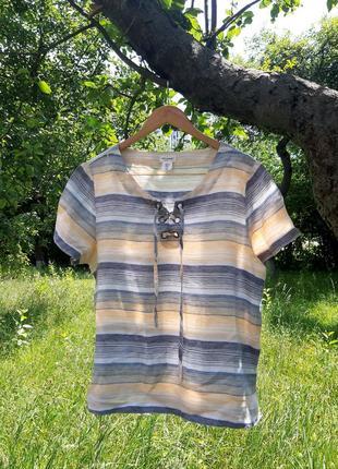 Льняная рубашка / блуза  artisan ny