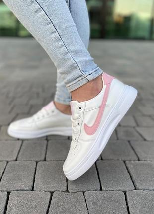 Белые базовые кеды кроссовки на лето 👍