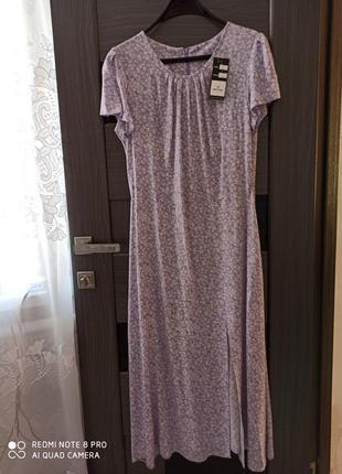 Платье женское с разрезом.