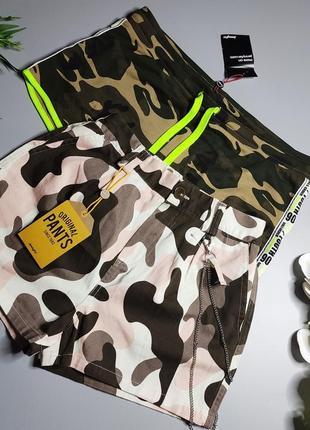 Камуфляжные шорты котон