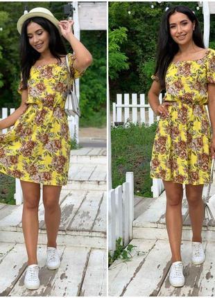 Яркое летнее платье в цветочки🌼🌼🌼
