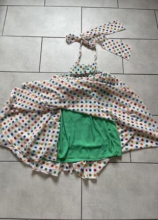 Воздушное платье дизайнерское от tina petrakova!2 фото