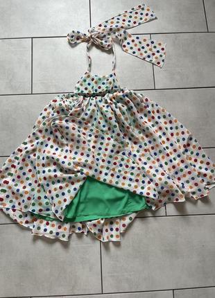Воздушное платье дизайнерское от tina petrakova!3 фото