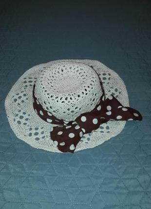 Актуальная шляпа с бантом/натуралка/город и пляж