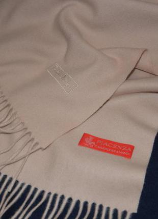 Piacenza cashmere. италия. дизайнерский теплый шарф tristano onofri, шерсть кашемир