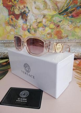 Модные брендовые нюдовые прозрачные солнцезащитные женские очки 2021 с фирменной коробкой