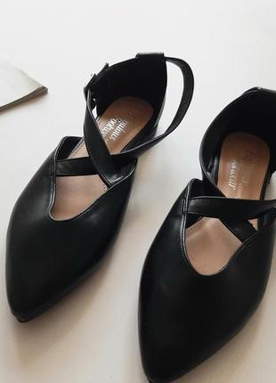 Красивые босоножки туфли черные 38р